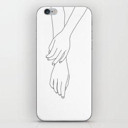 Hands line drawing illustration - Effie iPhone Skin