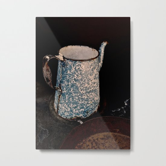 Coffee Pot, Haunted Stove- Hell's gate, B.C. Metal Print