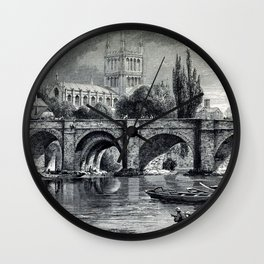 Cathedrals, abbeys and churches of England and Wales Wall Clock