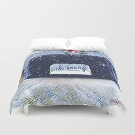 Vermont Covered Bridge Sugabush Duvet Cover