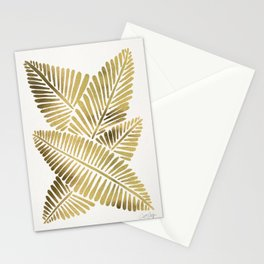 Tropical Banana Leaves – Gold Palette Stationery Cards