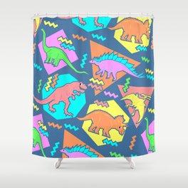 Nineties Dinosaur Pattern Shower Curtain