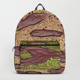 Sparkle Landscape / Abstract Acrylic Painting Backpack