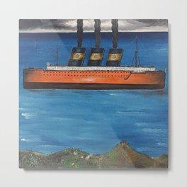 Transatlantic Ocean Linger, 1925 Huile sur toile nautical landscape by Yves Tanguy  Metal Print