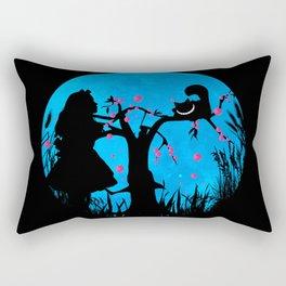 Alice In Wonderland Blue Moon Rectangular Pillow