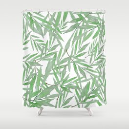 leave pattern Shower Curtain