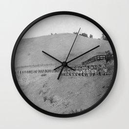 World War I Camp Fremont Solders in Palo Alto Wall Clock