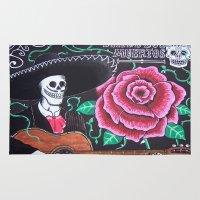 dia de los muertos Area & Throw Rugs featuring Dia De Los Muertos by ThatBlokeWilson