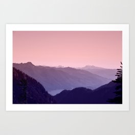 The Song of the Mountains Art Print