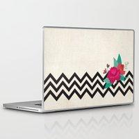 bonjour Laptop & iPad Skins featuring bonjour by Marilia Cichini