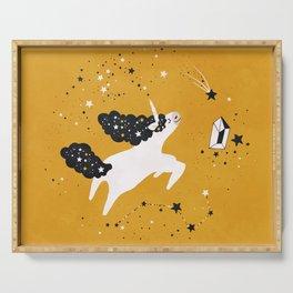Stellar Unicorn with Stars Serving Tray