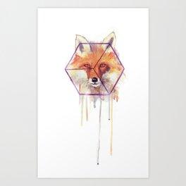 Bonjour Fox!! Art Print