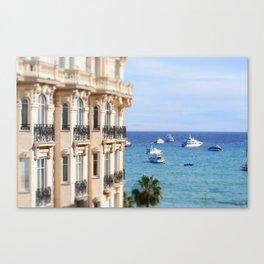Carlton Hotel views in Cannes! Canvas Print