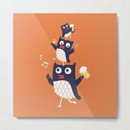 Happy Owls Metal Print