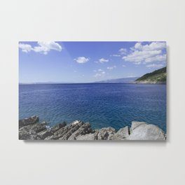 Beautiful Seascape In Croatia Metal Print