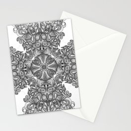 black, white and gray  Stationery Cards