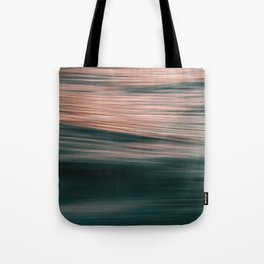 Abstract rose gold forest green paint brushstrokes Tote Bag