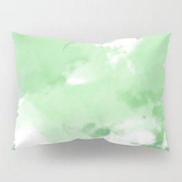 Emerald Green Tie Dye Pillow Sham