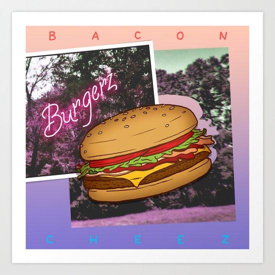 Burgerz Art Print