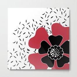 Red flower . Metal Print
