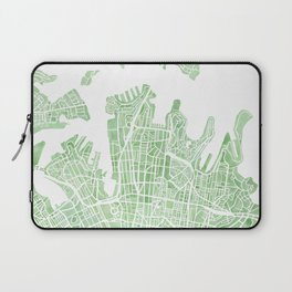 Sydney Australia watercolor city map Laptop Sleeve