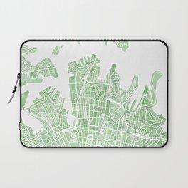 Sydney Australia watercolor city map Laptop Sleeve
