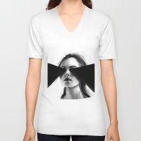 faith V-neck T-shirts featuring Faith by Tsukiko-Kiyomidzu