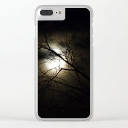 Once in A Blue Moon Clear iPhone Case