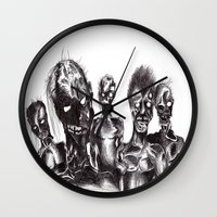 zombies Wall Clocks featuring Zombies by Niky Boo