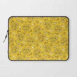 Retro Dog Paisley - Yellow Laptop Sleeve
