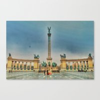 budapest Canvas Prints featuring Budapest by jamesrizzi