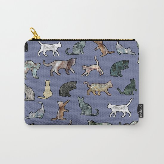 Cats shaped Marble - Violet Blue Carry-All Pouch