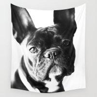 french bulldog Wall Tapestries featuring French Bulldog by Falko Follert Art-FF77