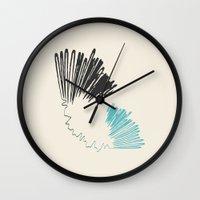 polar bear Wall Clocks featuring Polar Bear by By Nordic