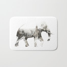 Double exposure elephant Bath Mat