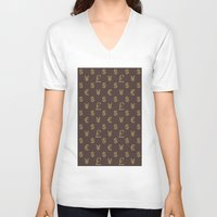 gucci V-neck T-shirts featuring Addicted to Fashion by VilmosVagyoczki