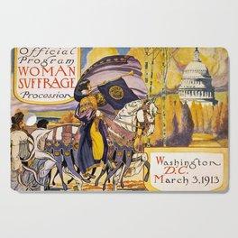 Women's March On Washington, Votes For Women, Women's Suffrage Cutting Board