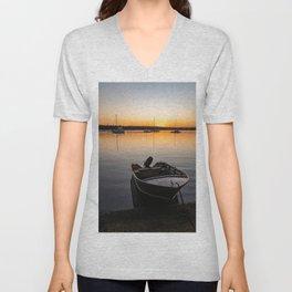 Sunset on Lake Macquarie Unisex V-Neck