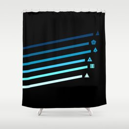Blue Streaking Dice Shower Curtain