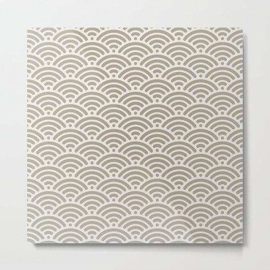 Gray Grey Alabaster Mermaid Scales Metal Print