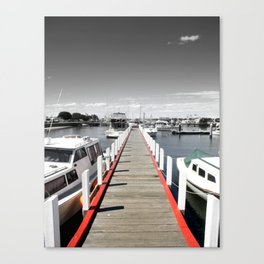 Follow the red Line Canvas Print