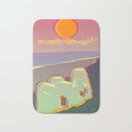 Red Moon Summer Vibrations Bath Mat