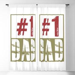 #1 dad Blackout Curtain
