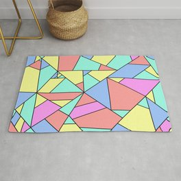 colorful mosaic - colorful patchwork Rug