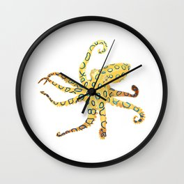 Blue-ringed Octopus (Octopussy) Wall Clock