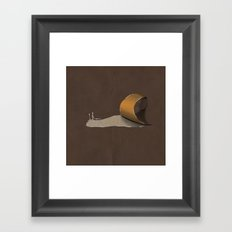 snail brown Framed Art Print