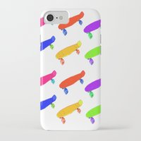 skateboard iPhone & iPod Cases featuring Skateboard Pattern by Jaime Cartwright