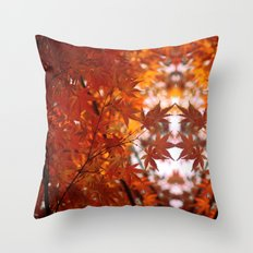 engulfed in flame Throw Pillow