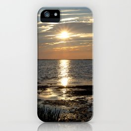 Watercolor Sunset, Janes Island 07, Maryland iPhone Case