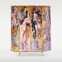 Vintage poster - Four Seasons Shower Curtain